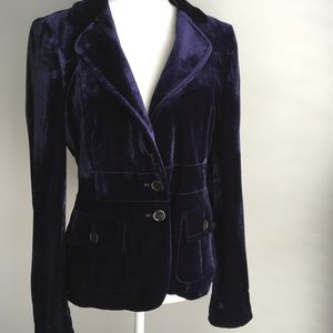 Hugo Boss women's purple velvet blazer